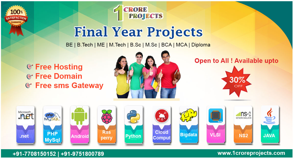 Real time best final year be, btech, ieee Student Project
